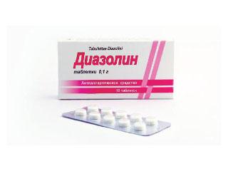 Диазолин от аллергии (таблетки): инструкция по его применению при крапивнице