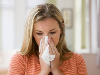 Проявление аллергического насморка