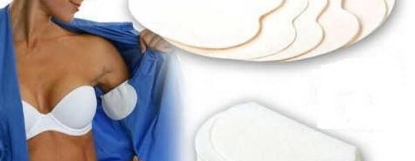 Прокладки для подмышек от пота: разновидности вкладышей и их применение