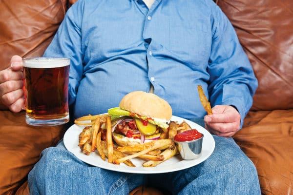 Частые переедания – причины инфаркта
