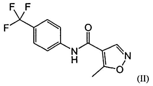Химическая формула терифлуномида